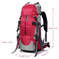 Internal Frame Trekking Bag with Rain Cover for Climbing