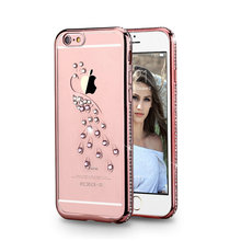 luxury phone case diamond clear silicone cell phone case for iphone 7 plus