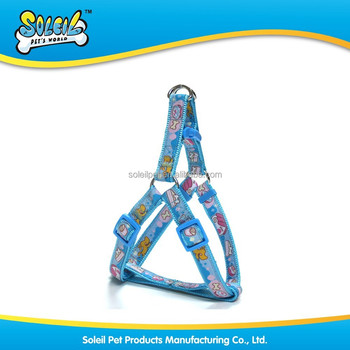 Factory Wholesale Safe A Shape Embroidered Nylon Patterned Dog Harness