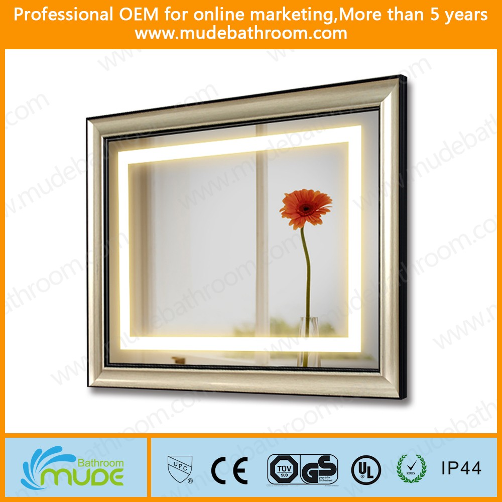 Aluminum frame IP68 wall mounted bathroom 3d ledlight mirror