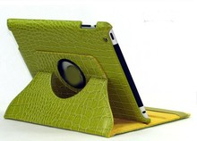fashion style leather with holder cover 360 rotating case for ipad 2