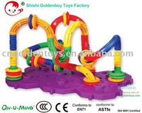 2011 new Plastic twister enlighten block kids toy -121pcs