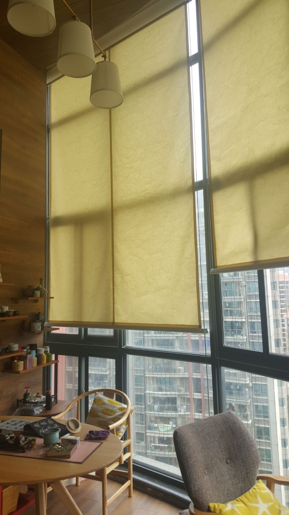 Vertical roller blinds curtain for indoor and outdoor window