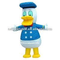 inflatable mobile cartoon duck for advertising