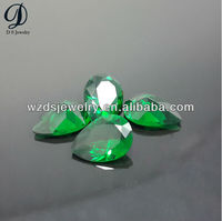 Hot sale synthetic pear shape emerald gemstone