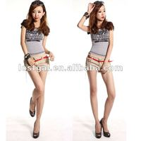 Hot sale 2012 new women's nightclub sexy belt scoop-back short sleeve T-shirt A188