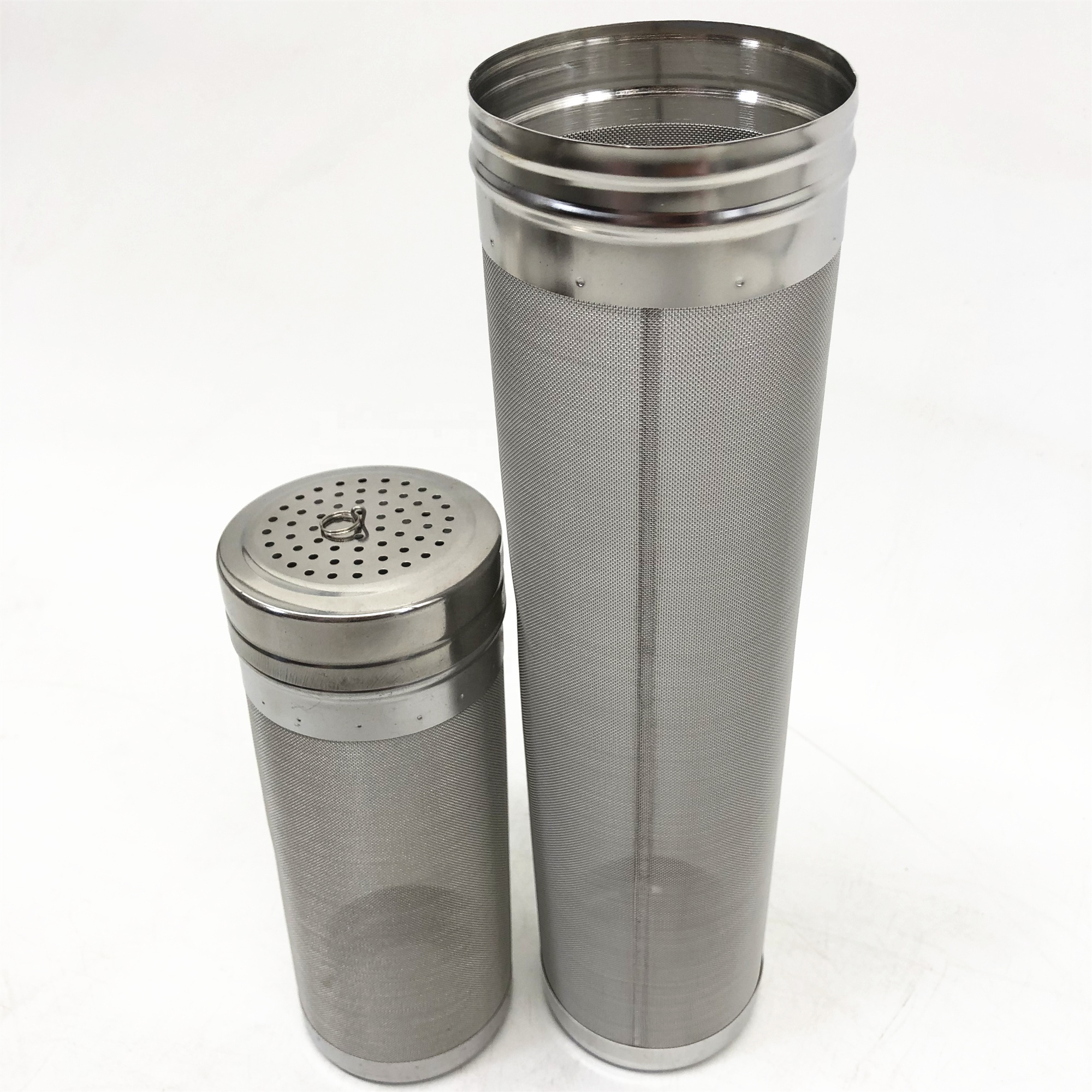 Direct <strong>manufacturer</strong> supply 7cmX30cm stainless steel mesh basket strainer beer