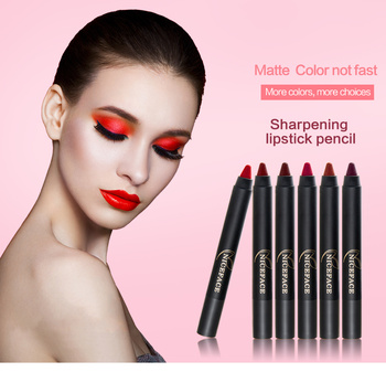 NICEFACE does not stick the cup does not fade seal can be cut lipstick pen matte fog face lipstick
