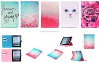 For iPad 3 wallet stand leather case flip leather case cover, for ipad 4 animal flower leather case