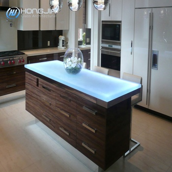 Art toughened glass countertops