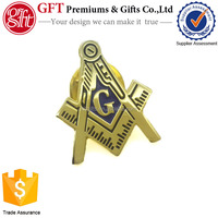 High click custom gold masonic pin badges,metal lapel pins china