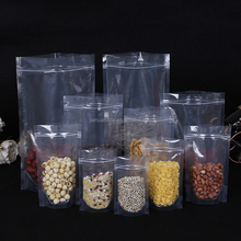 Clear stand up pouch plastic dried fruit bag with zipper