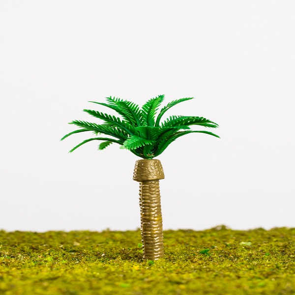 Artificial mini palm trees model for architectural scale model layout/scene layout (Z001)