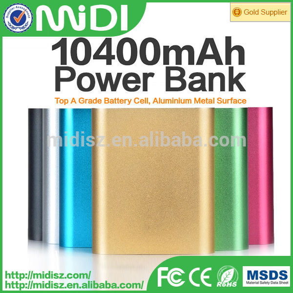 OEM battery charger convenient powerbank 10400mah with metal case
