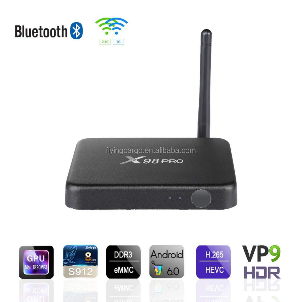 X98 pro Amlogic S912 TV Box Android 6.0 octa core TV Box 1000M LAN EMMC 4K android smart tv box X98 PRO