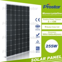High efficiency 255w 260w mono solar module for solar power system