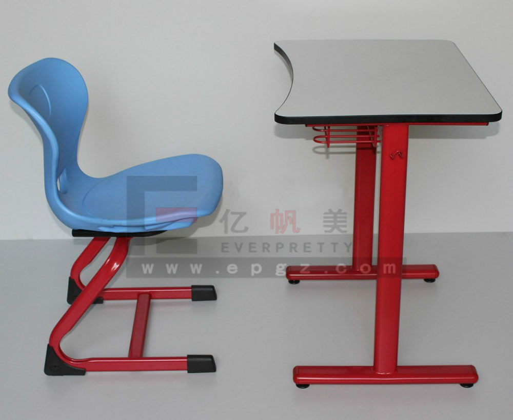 Wood Single Student Desk and Chair School Classroom Desk and Chair