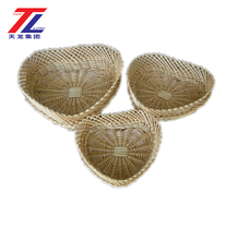 wholesale practical 100% handmade weave ornamental environmentally friendly wicker fruit basket