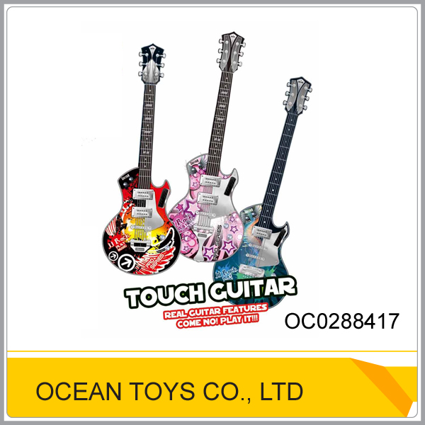 Touch function kids plastic electrick guitar OC0288417