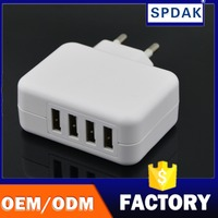 Factory OEM 2.1A 10.5W 4 Port USB US Wall Charger Travel Power Adapter Portable Travel Charger