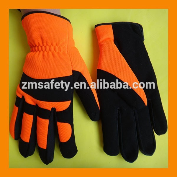 Hi-Vis Insulated Winter Mechanic Gloves