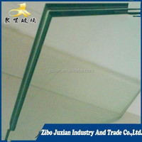 clear colored fiber glass laminated tempered glass