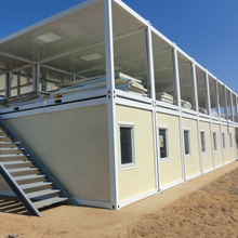 CANAM- CE certificated double room connected container house dormitory