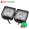 Off road 27w led work lamp, 12v waterproof 27w led work lamp