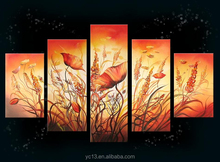 5pcs panel handmade modern decoration canvas painting