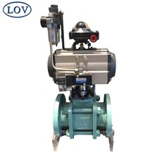 DN80 PN10 A216-WCB Body Chemical Resistance Split Body Ceramic Lined Motorized Ball Valve