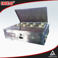 Open Top Style Table Top Stainless Steel Box Refrigerator/Fridge
