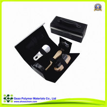 high quality 6 accessaries italian leather care kit,travel bag set,promotional shoes cleaning kit