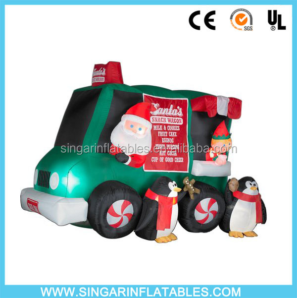 Christmas Inflatable Santa Truck ,Cheap Christmas Airblown Inflatable