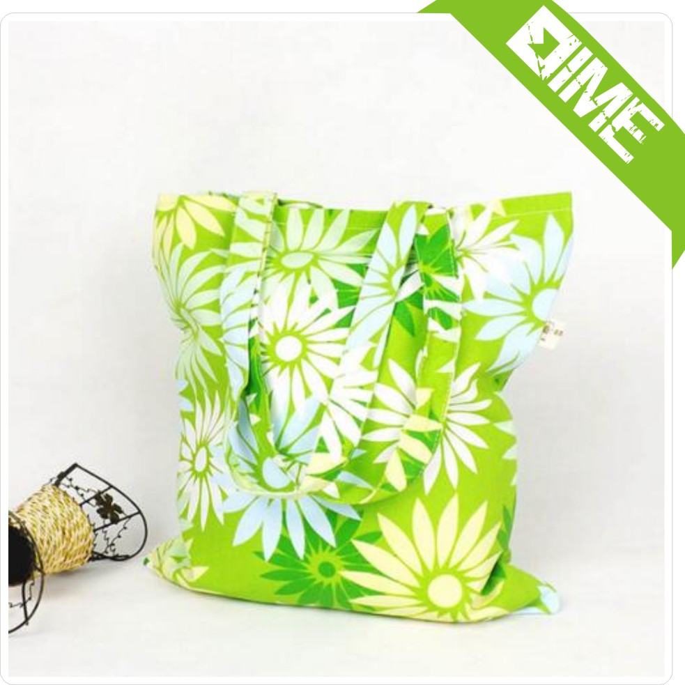 2016 Green Earth Cotton Washable Bag Girls Fancy Bags