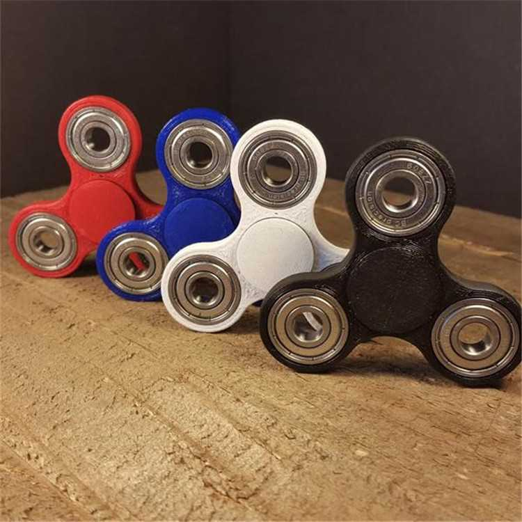 Haoqiang nice price Custom Bearing Fidget Spinner Toy edc spinner caps