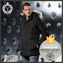 COUTUDI urban men durable supply quality winter sexy men trendy parka synthetic fur jackets made in China