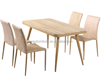 Malaysian types timber mdf wooden kitchen dining table and chair sets for 4, types of dining tables designs