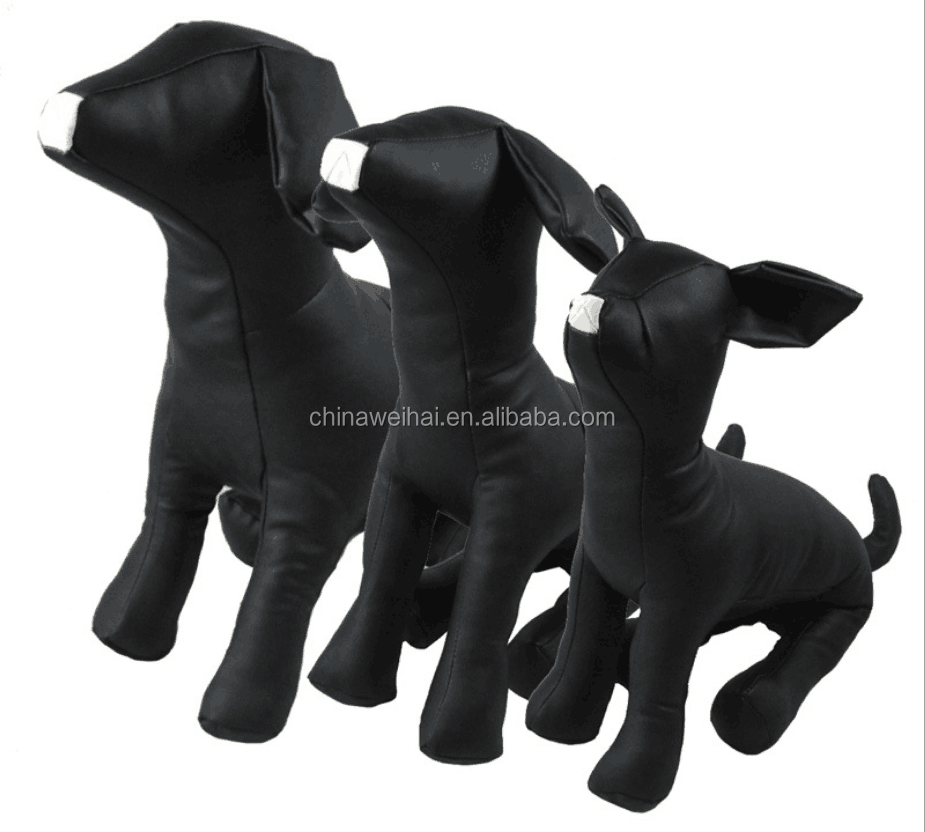 Cheap Pet Model Seated PU Leather Dog Mannequin