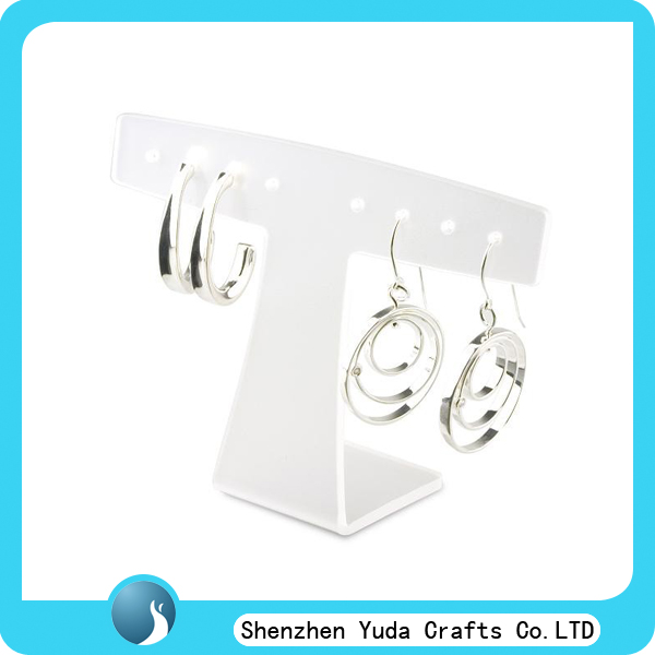 white black free standing piercing acrylic earring tree jewelry display stands, acrylic earring jewelry display