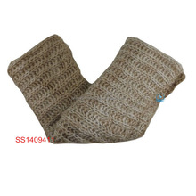 Fashion acrylic knitted chevron infinity scarf