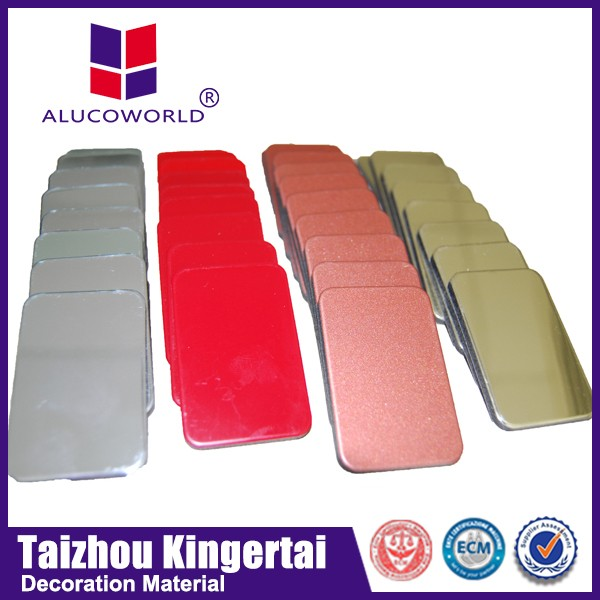 Alucoworld 3mm aluminum composite acm corrugated sheet roof