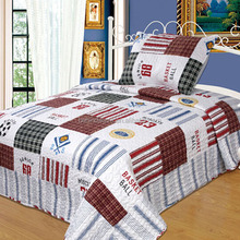 Wholesale Printing Football Patch Work Bed Sheets