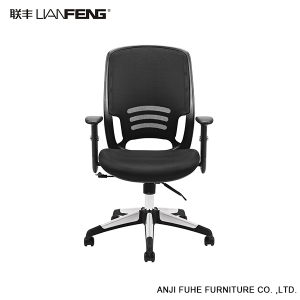 Durable high back soft pad office mesh chair with universial wheel