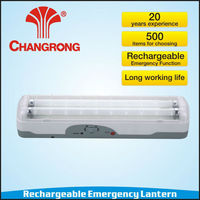 portable 2*8W rechargeable emergency fluorescent tube lantern