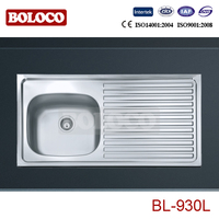 One-Piece Extending European lay on Sinks BL-930L wash sink