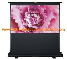 Portable floor up projector screen portable