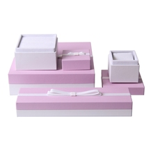 Hot selling upmarket small size premium plain commercial padded jewelry gift box for ring necklace bracelet package