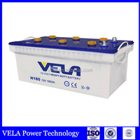 white dry charged JIS 12v 180Ah heavy duty car battery