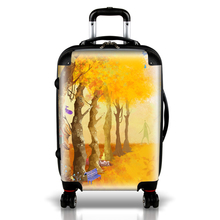 2018 Factory polycarbonate printed hard case trolley bag