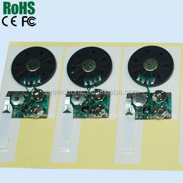 Recordable Voice Module for Greeting Card Music Sound Talk Chip Musical